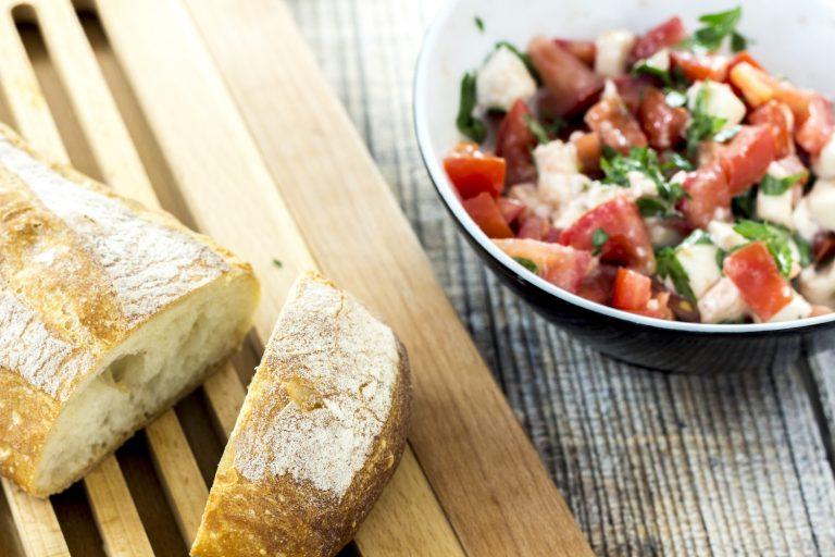 Simple tomatoes and mozzarella