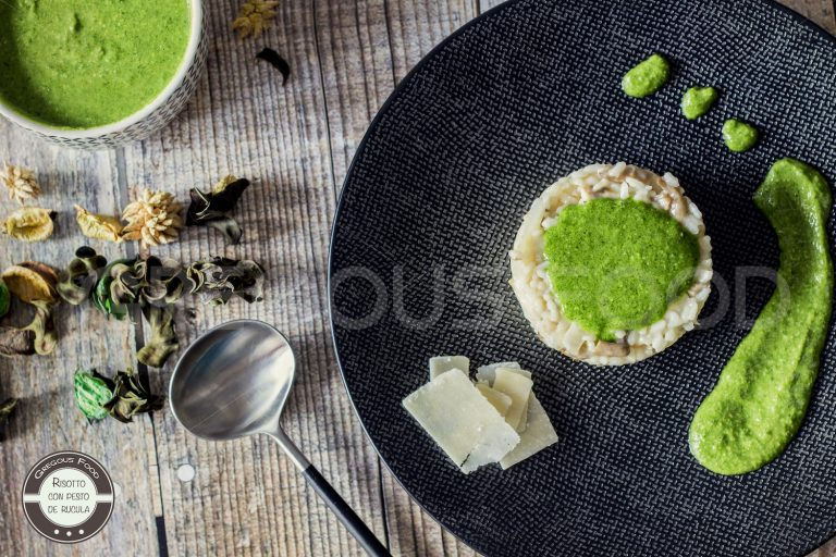 Risotto de champiñones con pesto de rucula – Reto Cooking The Chef: Berasategui