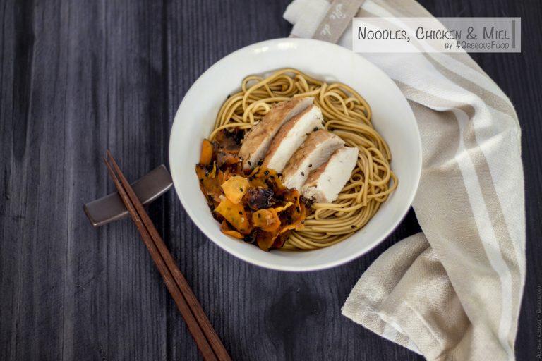 Chicken & honey carrots noodles