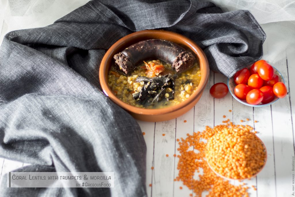 coral-lentils-morcilla-trumpets-gregousfood2